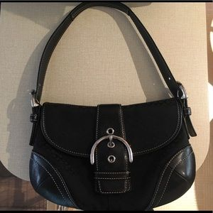 Mini Signature Soho Flap Coach purse